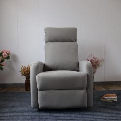 Un style simple mécanisme manuel seul siège canapé tissu blanc d'inclinaison de la technologie durable