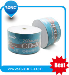 CD-R vierge de gros avec 700Mo de disque CDR cellophane Package