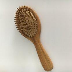Природные овальной бамбука деревянной лопатки массаж волос щетки