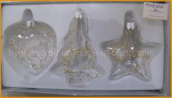 크리스마스 훈장 (심혼, 나무, 별)를 위한 최신 판매 유리제 기술
