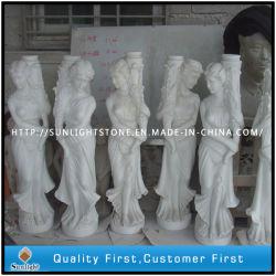 Granito y mármol piedra jardín escultura, fuente tallada, estatua de la decoración (talla de piedra)