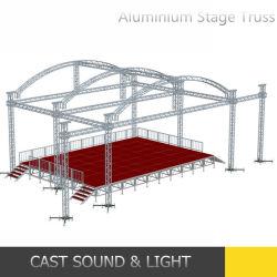 Aluminio soporte de iluminación exterior de la armadura de la etapa de rendimiento