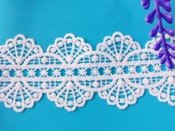 ポリエステルレースの刺繍の方法バーコードの衣類のレースのアクセサリ