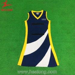Conception personnalisée de l'usure de la sublimation Tennis Sport robe robe de netball pour l'équipe du Club de beauté