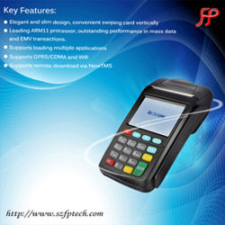 Nieuwe 7210 GPRS POS Terminal Handheld Mobile Biometric Terminal voor POS System