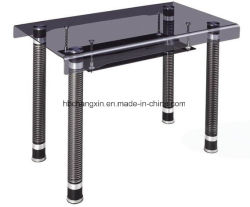 Высокое качество сломанных обеденный стол из закаленного стекла