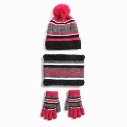 Unisex gebreide warme Ski Winter Slouchy Outdoor Sport Acryl Beanie Touch screen Cap sjaal hoed handschoen sets