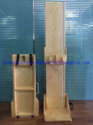 製造供給硬木 130cm 2 パーツ子供用木製高さ測定ボード