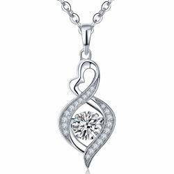 La moda de plata 925 Colgantes de Plata joyas de diamantes de baile
