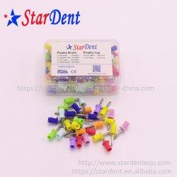 Dent Prophy dentaire polonais de la cuvette de polissage coloré le loquet en caoutchouc de type