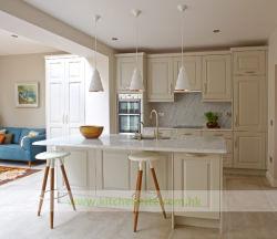 Armário de cozinha de cor bege glamour com acabamento de PVC (WH-D198)