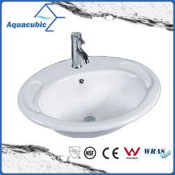 Por encima de la cuenca del cuarto de baño lavabo de cerámica Contador (ACB023)