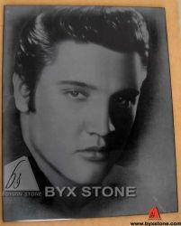 De Gravure van de Schaduw van de Ets van het Beeldhouwwerk van het Cijfer van de steen van Elvis