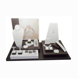 Großverkauf passt hölzerne Acrylschmucksache-Uhr-Speicher-Bildschirmanzeige an
