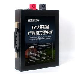 Sr Li a Solar 12V Bateria recarregável Bateria fosfato com invólucro de metal Isqueiro de iluminação LED 12V LiFePO 120A4 Pack de baterias