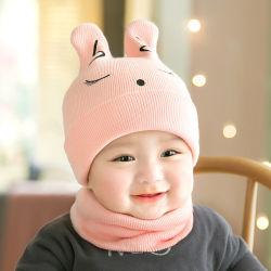 Stock Bébé Enfant Hiver chaud Skin-Friendly Bébé Bonnet Tricoté au crochet Beanie Pattern Cap avec des oreilles