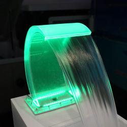 스테인리스 기초를 가진 아크릴 물자 LED 가벼운 투명한 폭포