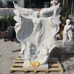La Chine de haute qualité sculpture en marbre part sculpture en marbre blanc de grande taille Statue d'angle pour le jardin