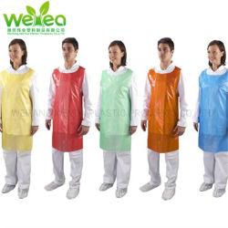 Protector impermeable desechables de polietileno PE delantal para Mujeres Hombres niños