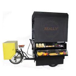 Pedal móvil/eléctrica triciclo Pastel de quiosco de cerveza tienda de alimentos de perrito caliente freír Trike fruto del café Bike