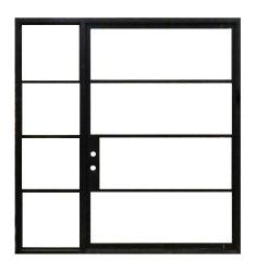 Современный дизайн безопасности стали дверная рама перемещена неподвижного стекла и открывающиеся окна