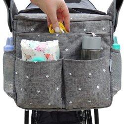 Fácil Instalação Grande Console dos pais com porta-copos e carrinho de bolso de armazenamento extra Saco Organizador atribui a qualquer carrinho de bebé