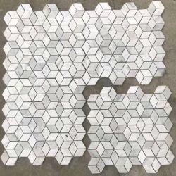 Piso de mosaico em mármore branco/Plano de Fundo do Painel de parede/quadros/Piso/Lado a Decoração