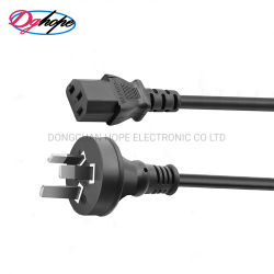 Шнур питания SAA утвердил 3контакт кабеля питания переменного тока