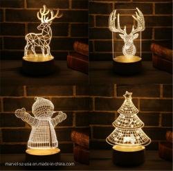 LEIDENE van de Nacht van het Beeldverhaal van de Controle van de Atmosfeer van de Giften van de Decoratie van Kerstmis Lichte 3D Lamp