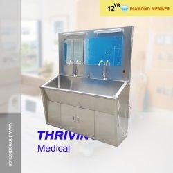 Lavage double évier en acier inoxydable (thr-SS027)