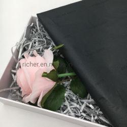 Custom дизайн печати черной ткани подарок упаковочная бумага