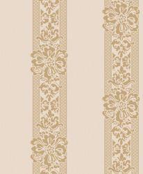 Beau design floral flocage classique de papier peint pour salle de télévision