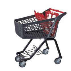 Hete Milieuvriendelijke Verkoop Al Plastic Karretje van de Hand van het Boodschappenwagentje van de Supermarkt