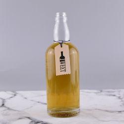 700ml de lege Ronde Fles van het Glas van de Rum van de Vorm, de Schroefdop van het Verstand van de Fles Tequila