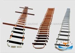 선창을%s 바다 나무로 되는 알루미늄 마닐라 화재 안전 도주 밧줄 사다리 상승 밧줄 사다리 구조 밧줄 사다리