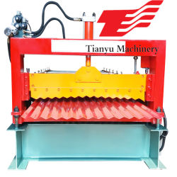 Gewölbtes Aluminiumdach-Blatt, das Maschine herstellt
