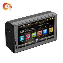 """Double DIN radio stéréo de voiture GPS 7"""" TFT écran tactile de capacitance Voiture Lecteur MP5 avec technologie Bluetooth GPS Récepteur radio FM AM RDS Voiture Lecteur vidéo"""