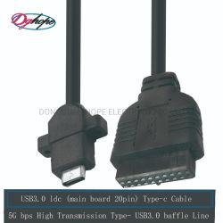 Cabo USB 3.0 Dghope Cabo de computador no painel frontal