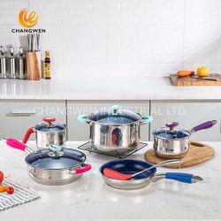 5 punti basano l'insieme del Cookware dell'acciaio inossidabile 12PCS