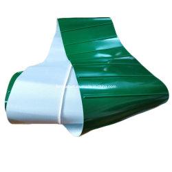 Grünes Kurbelgehäuse-Belüftung befestigt weißes PU-Führungs-Grün Belüftung-Förderband
