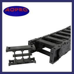 Máquina de moagem de superfície de nylon para abrir a bandeja de cabos flexíveis CNC a cadeia de cabos de energia