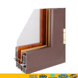 Guangdong si è sporto profilo di legno dell'alluminio dell'espulsione del portello della finestra della lega di alluminio T5 del grano 6063