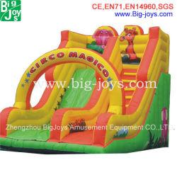 Promoción coloridos inflables gigantes personalizados de diapositivas (007)