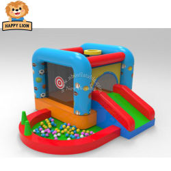 Happy Lion videurs gonflable bon marché pour la vente, à domicile Bouncer gonflables pour enfants, à Oxford en tissu, à domicile bouncer