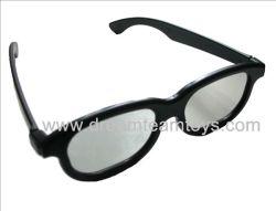 La polarisation linéaire lunettes 3D en plastique (DT-F012LP)