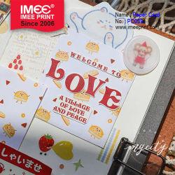 Imee Zeichen-Geliebt-Staffelung-Jahreszeit-Kunst-Postkarte einfache Lomo handgeschriebene reizende Papiergeburtstag-Gruß-Karte