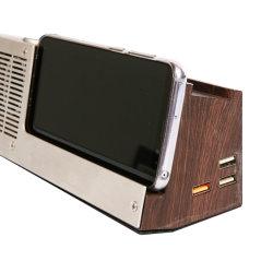 Haut-parleur sans fil Dock avec chargeur sans fil rapide, lampe de table à intensité réglable