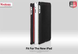 Estojo de couro Islim para novo iPad (iPad3) (rocha005)
