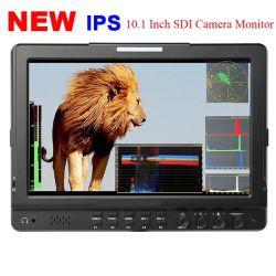 شاشة LCD بتقنية IPS حجم 10.1 بوصة بتقنية TFT مزوّدة بتقنية SDI ثنائية استوديو بث احترافي