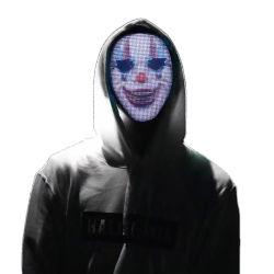 APP Linli LED Programa Controlado por el cambio de imagen de la máscara facial Mascarilla cara a todo color para la fiesta de Halloween concierto